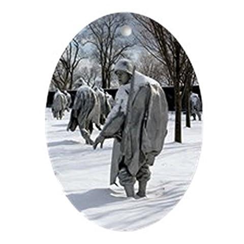 CafePress–Korean War Memorial Keepsake (Oval)–oval Urlaub Weihnachten Ornament