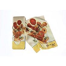 Artis Vivendi 9154–Étui à lunettes et chiffon de nettoyage–Vincent Van Gogh–Tournesol | dans Décoration Miro Coffret cadeau