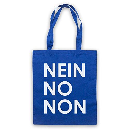 Inspiriert durch Nein No Non As Worn By Thom Yorke Radiohead Inoffiziell Umhangetaschen Blau