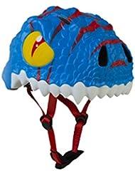 Abus The Sky Dino Casco, Infantil, Azul (Bleu/Blanc), 49-55 cm