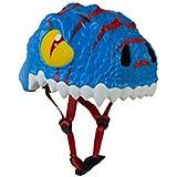Abus The Sky Dino Casco, Infantil, Azul (Bleu/Blanc), 49