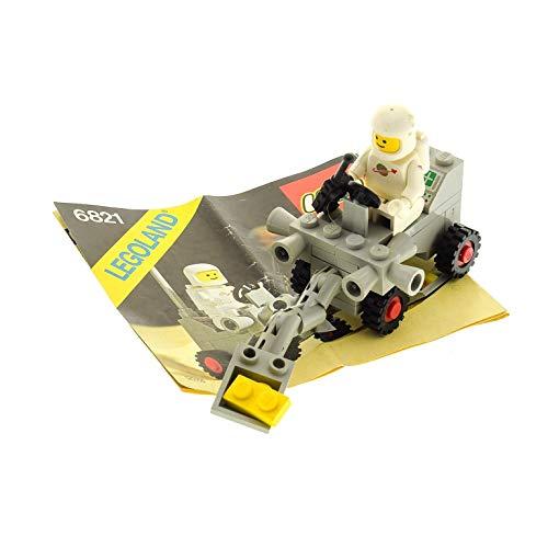 1 x Lego System Teile Set für Nr. 6821 Classic Space Shovel Buggy Raumschiff 1 x Figur Weiss grau Bauanleitung Incomplete unvollständig (Lego System Classic-sets)