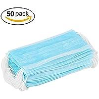 NiceButy 50 Stück blaue 3-lagige Einweg-Staubmaske, Universal Fit, hypoallergen, Latexfreie Staubmaske preisvergleich bei billige-tabletten.eu