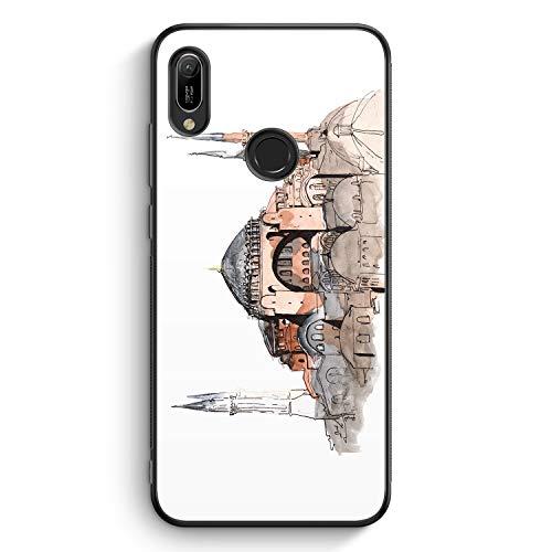 Hagia Sophia Ayasofya Istanbul Türkei - Silikon Hülle für Huawei Y6 (2019) - Motiv Design Türkiye Cami Islam - Cover Handyhülle Schutzhülle Case Schale