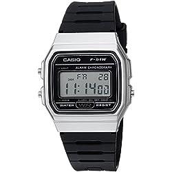 Casio Hombre 'Classic' cuarzo Metal y resina Casual reloj, color: negro (modelo: f-91wm-7acf)