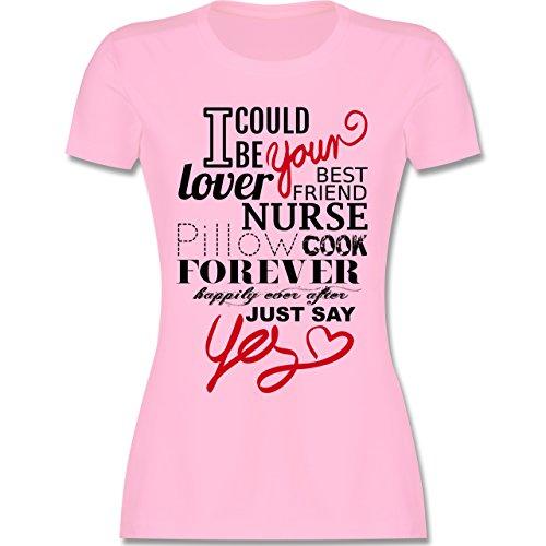 Valentinstag - I could be your ... Antrag - tailliertes Premium T-Shirt mit Rundhalsausschnitt für Damen Rosa
