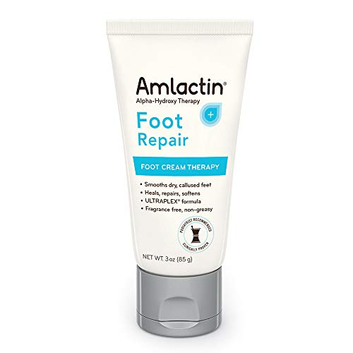 AmLactin Alpha-Hydroxy Therapy Foot Cream to Heal, Repair, Soften Dry, Callused Skin on Feet, Heels Podiatrist Approved 3 Ounce by Upsher-Smith Laboratories, Inc.