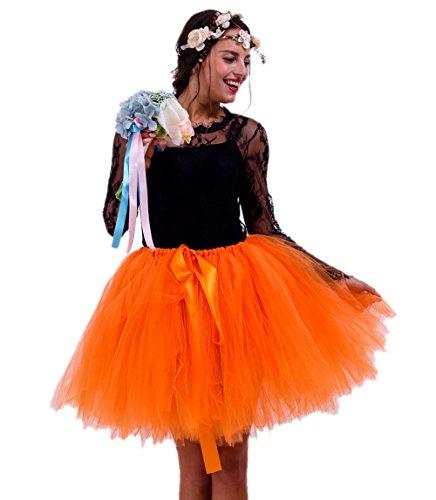 Halloween Diy Für Kostüme Frauen Billig (Honeystore Damen's Vintage Tüllrock Prinzessin Falten Rock Tutu Petticoat Ballettrock Unterrock Pettiskirt One Size)