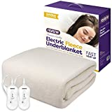 Reverie Electric Blanket | Fitted Fleece Underblanket with 2 Heat Zones | Dual