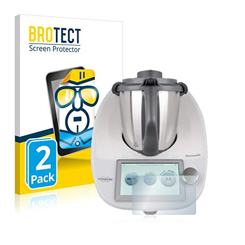 brotect 2-Pièces Protection Ecran Compatible avec Vorwerk Thermomix TM6 - Film Protection Ultra Clair