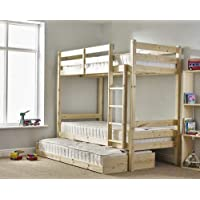 Bunk Bed with Guest Bed - 3foot Single Bunkbed with Pull Out trundle