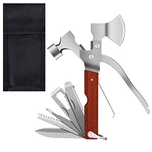 YoungRich Taschenwerkzeug Multifunktionswerkzeug Multitool Hammer Notfall Werkzeug Hatchet Messer Opener Stahl Klinge Anti Rost Solide Durable für Auto Camping Hause Unterwegs 16.5x10x2cm