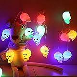 Descrizione    Questo articolo è una serie di luci 20pcs progettate come forma di teste di teschi. Sono alimentati da batterie, risparmio energetico e basso consumo per durare a lungo. Generalmente utilizzato per feste, palcoscenico, Halloween, came...