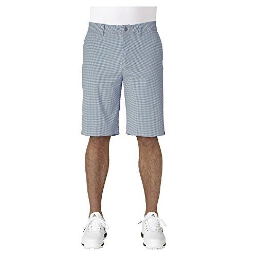 adidas Golf Herren Ultimate 365Gingham Shorts, Herren, Raw Gold/Trace Royal, 38