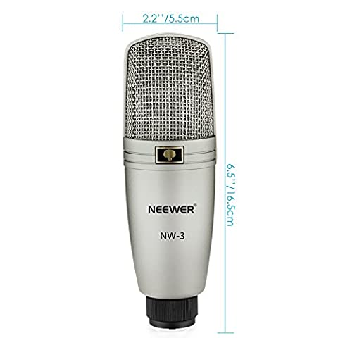 Neewer® NW-3 Large Diphragm Condenser Studio Recording Broadcasting Microphone with Microphone Holder Swivel Mount,