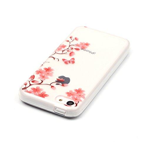 TPU Silikon Schutzhülle Handyhülle Painted pc case cover hülle Handy-Fall-Haut Shell Abdeckungen für Smartphone Apple iPhone 5C +Staubstecker (10FM) 7
