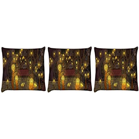 Snoogg Adventure Time-Set di 3 tende, cuscini 50,80 x 50,80 (20