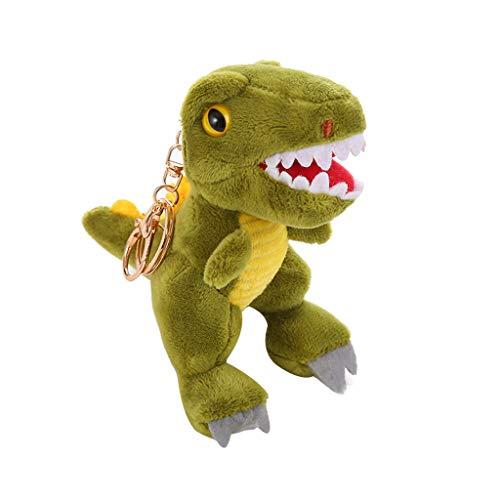 euge Dinosaurier Weich Ausgestopft Tiere Puppen Kinder Geburtstag Geschenk Neu Tyrannosaurus Rex Plüschtier Anhänger Boutique Puppenmaschine Rucksack Hängende Verzierung ()
