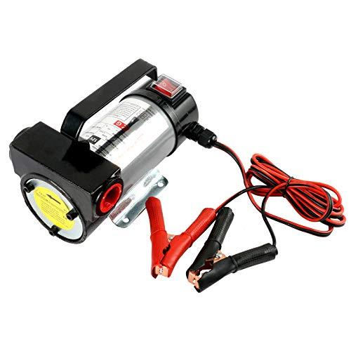 GOGOLO Pompa per Diesel, 12 V, Auto-aspirante, Trattore, Filtro per Auto, Elettrico, 50 l/min, Pompa Diesel, Stazione di Benzina Automatica, Set Pompa Diesel, Batteria Auto, Funzionamento