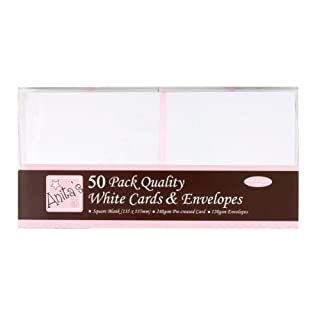 Anita's Square Card and Envelope, Pack of 50, White