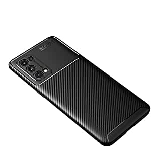 Lustree Rugged Armour TPU Military Grade Back Cover Case for Oppo Reno 5 Pro 5G (Black)