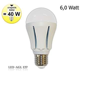 LED Glühbirne AGL E27 - 6 Watt -