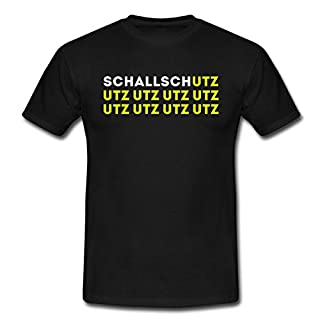Spreadshirt Schallschutz UTZ UTZ UTZ Musik Laut Party Eskalation Männer T-Shirt, L, Schwarz