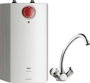 aeg 222168 huz 5 ko dropstop a offener warmwasser kleinspeicher mit armatur 5 liter 2 kw 230. Black Bedroom Furniture Sets. Home Design Ideas