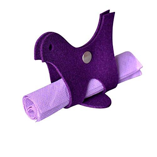 FELTWELT Serviettenhalter Vogel violett – Design Wollfilz 3mm
