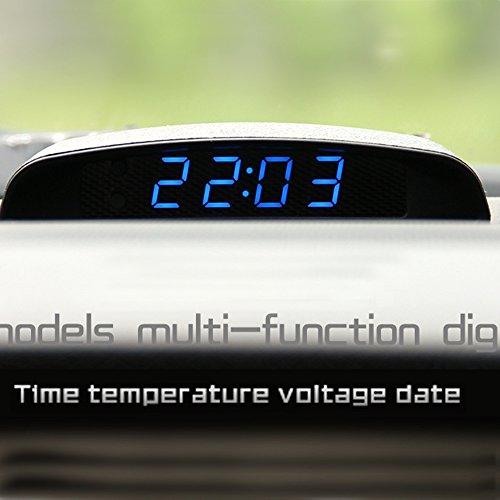 PolarLander 12V Car 3 in 1 Car Clock Termometro e voltaggio Monitor Sette Tipi di modalità di visualizzazio