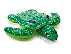 Idea Regalo - Intex 57524 - Cavalcabile Tartaruga, Verde, 150 x 127 cm