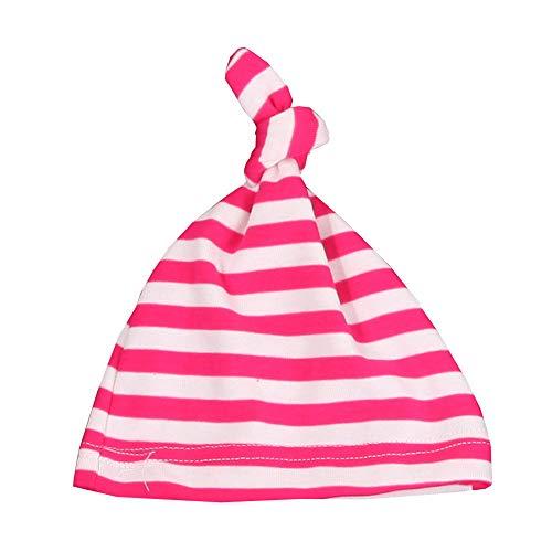 mlpnko Der einlagigeHut der Babybaumwollschlafkappenkinder kleidet den roten und weißen Streifen der Wilden Hutrose 0-2 Jahre - Cowboy Kostüm Für 1 Jahr Alt