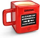 MUSTARD - Take A Break Emergency Cup I Funny Coffee Mug I Office Mug I  Coffee Cup I Tea Cup I Ceramic Mug I Special Cup for Coffee I Extra Insulated I Gift Idea for Students I Emergency - Red
