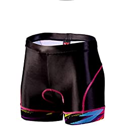 Taymory Thunderbolt T23.5 Pantalones Cortos de Ciclismo, Mujer, Multicolor, M