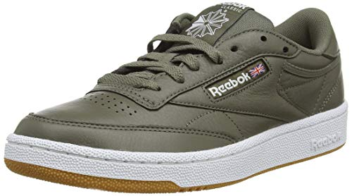 Reebok club c 85 mu, scarpe da fitness uomo, (fg/terrain grey/whit 0), 42 eu