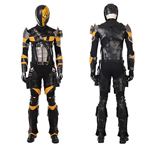 Deathstroke Cosplay Kostüm - nihiug Death Knight Cosplay Anime Charakter voller Anzug Deathstroke Kapuze Rüstung Kostüm männlich Halloween-Kostüm,Black-XL(178to182)