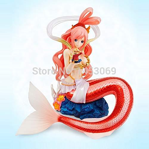 Yvonnezhang One Piece Shirahoshi ---- Nette Figur Mit Ruffy in Ihrer Hand Puppen Anime Action Figure Spielzeug