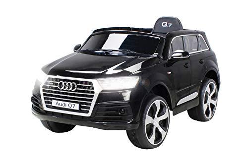 Kinder Elektroauto Audi Q7 HIGHDOOR SUV Lizenziert Modell 2016 Kinderauto Kinderfahrzeug Elektro Auto Spielzeug Für Kinder (Schwarz)