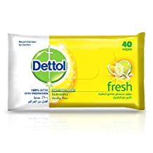 Dettol Fresh Anti-Bacterial Skin Wipes - Pack Of 40