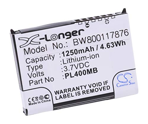 vhbw Li-Ion Akku 1250mAh (3.7V) für PDA Mobilcomputer Fujitsu Siemens Loox 400, 410, 420, C500, C550, N500, N520, N520c, N520p, N560, N560c Fujitsu Pda