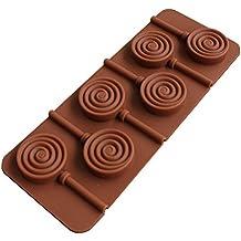 Lumanuby Molde de chocolate de silicona Molde para hacer donuts y piruletas,fondant molde antiadherente