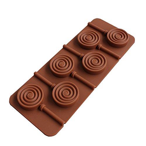 Hacoly Halloween Formen Fondant Lutscher Silikon Kuchen Ausstechform Muffinform Cookie Mould Schokolade handgemachte Seife Eis Zucker Handwerk DIY Backblech 3D Bakeware Plätzchen Schimmel Tool - Braun