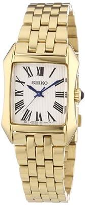 Seiko Damenuhren SXGP22P1 - Reloj analógico de cuarzo para mujer, correa de acero inoxidable chapado color dorado