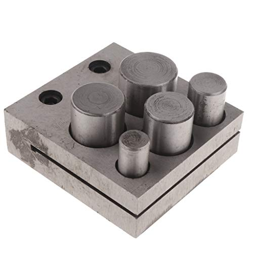 Baoblaze Jewelers Disc Cutter Punch Set Metal Circle