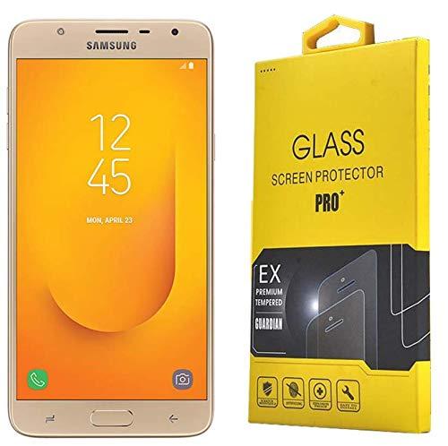 PoshCase Displayschutz für Samsung Galaxy J7 Duo, 14 cm (5,5 Zoll), aus echtem gehärtetem Glas, transparent, bruchsicher, 9H Härte, 0,3 mm, Flache Oberfläche, 2D-Glas