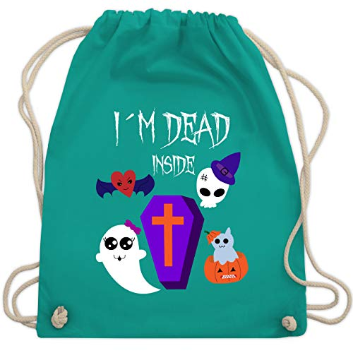 Halloween - I'm dead inside - Unisize - Türkis - WM110 - Turnbeutel & Gym Bag