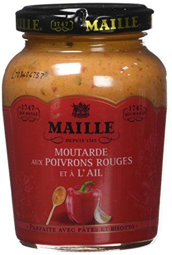 MAILLE Moutarde Poivrons Rouges et l'Ail 215 g