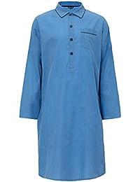 hommes Entretien facile uni léger coton polyester Chemise de nuit nuit chemise