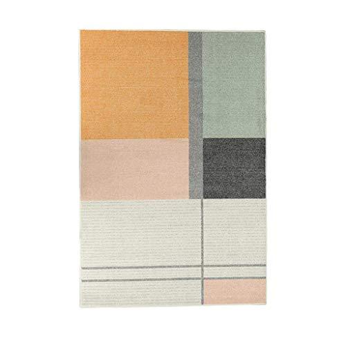 Teppiche JXLBB 1.4x2m Nordic Minimalist Style Polyester Carpet Home Moderne Geometrische Wohnzimmer Sofa Couchtisch Matte Volle Shop Schlafzimmer Nachttischdecke Dicke 9,68mm