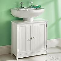Top Home Solutions® sotto lavello bagno armadio in legno bianco